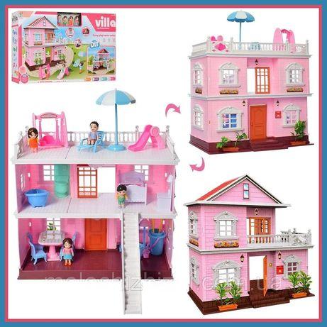 Дом кукольный домик Villa, Лол, с мебелью и подсветкой