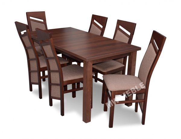 Zestaw KAROLINA 3 Stół Rozkładany + 6 Krzeseł SUPER OFERTA!!!