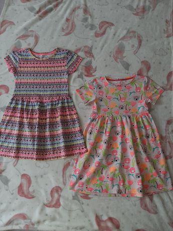 DWIE Sukienki lato 116 cm 5-6 lat h&m