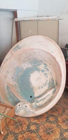 Banheira redonda em fibra