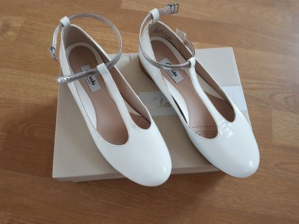 Eleganckie skórzane pantofelki/baleriny/sandałki CLARKS rozm. 36
