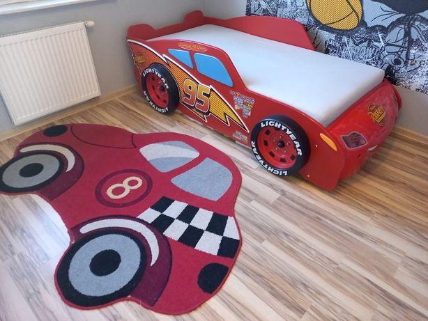 Łóżko dziecięce samochód Zygzak,stelarz+materac+dywan+transport gratis