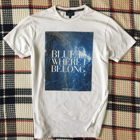 Футболка Armani Jeans Calvin Klein nike ellesse белая