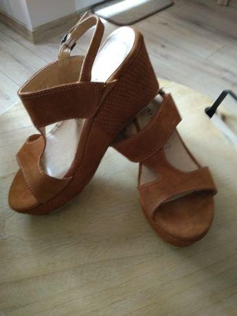 Sandały skórzane Tamaris-roz.38