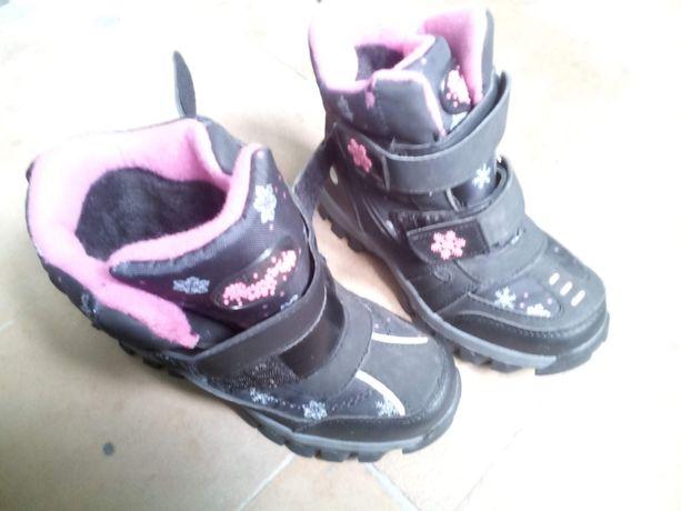 Зимние ботинки детские утепленные новые 32 для девочки