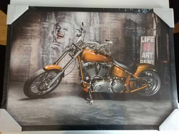 Obraz motocykl Marilyn Monroe - piękny nowy zafoliowany 50x70