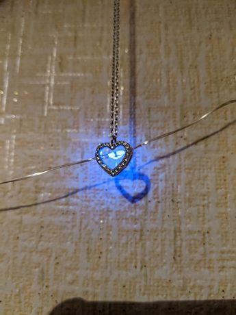 """Серебряная цепочка с подвеской """"Сердце"""""""