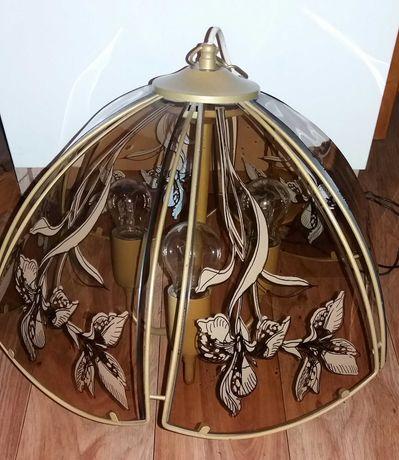 Lampy sufitowe wiszące szklane