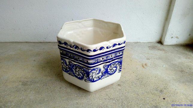 Vaso grande antigo pintado á mao