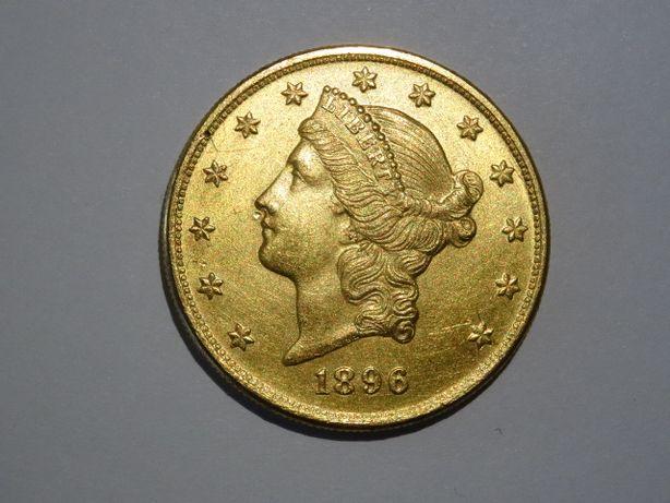 Złote 20 Dolarów 1896 r idealny stan - czekam na oferty