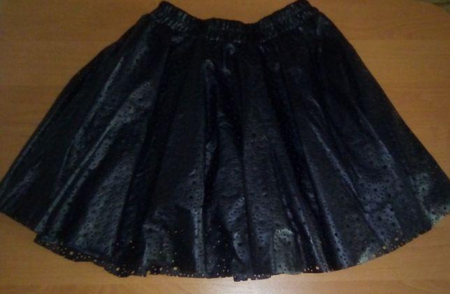 Стильная юбка на девочку из ЭКО кожи Breeze Girls 152р