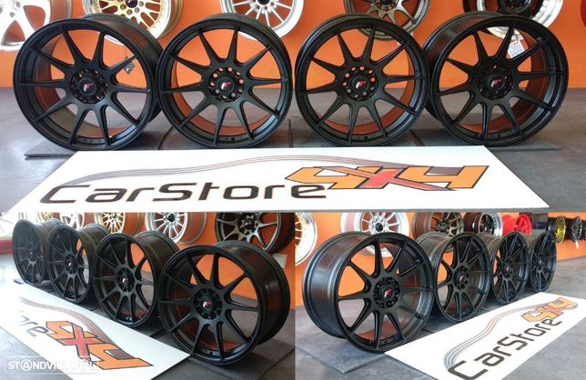 Jantes Japan Racing JR11 17 8.25 et35 5x100 / 5x114 Pretas