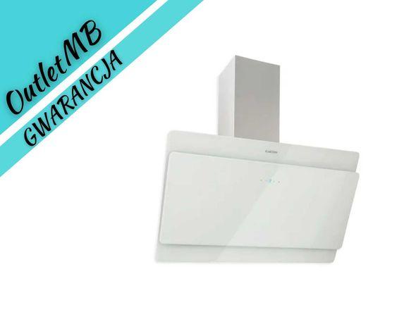 Okap kuchenny 90cm 610m³/h 190W LED panel dotykowy szkło biały 300401