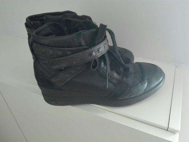 Sneakersy czarne Geox r. 39 buty, półbuty
