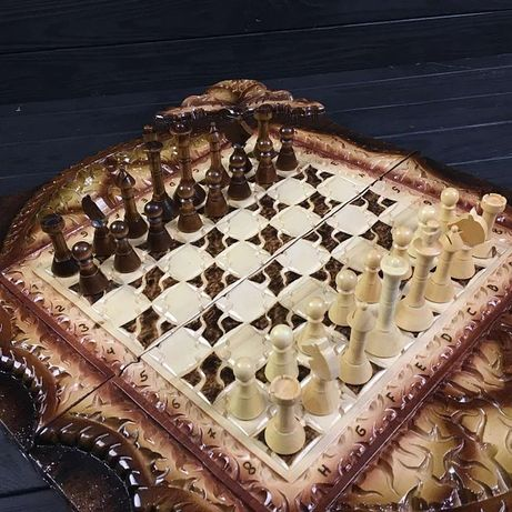 Нарды ручной работы 3 в 1 . Нарды, шахматы, шашки.