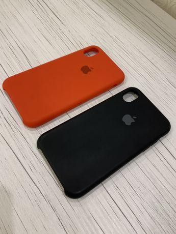 Чехлы на iPhone XR красный и черный 2 шт.