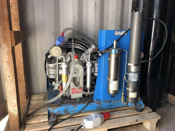 Compressor Bauer 190l/min de 300 bar mergulho ou paintball