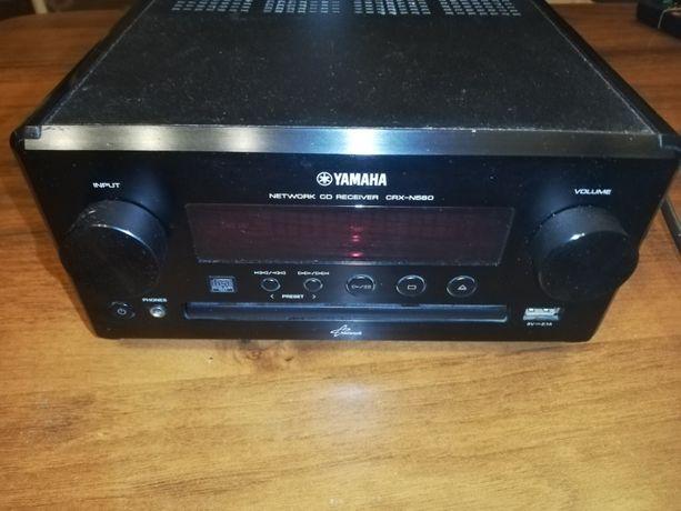 Amplituner z CD YAMAHA CRX-N560 czarny Stan bardzo dorby, jak widać na