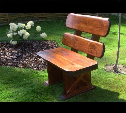 FOTEL ŁAWKA OGRODOWA solidna drewniana 2 os. MEBLE OGRODOWE stół ogród