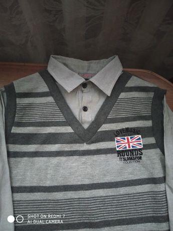 Рубашка-обманка для мальчика подростка