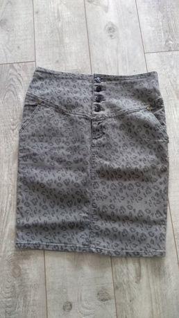 Jeansowa spódnica z wysokim stanem