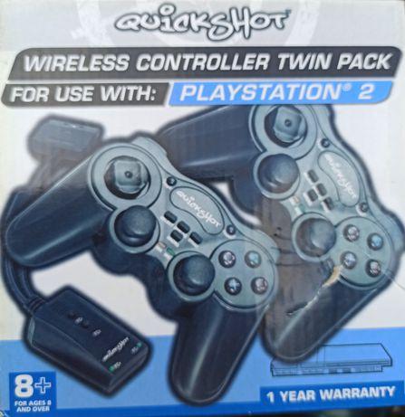 Pad ps2 kontroler do playstation 2 bezprzewodowy orginalny nowy 2szt