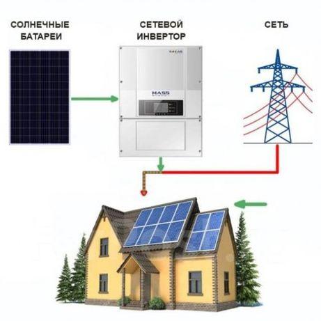 """Сетевая солнечная электростанция под """"зеленый тариф""""от 700$ киловатт"""