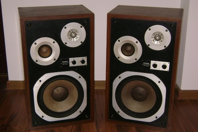 HITACHI HS-360 Kolumny głośnikowe vintage biały kruk unikat Wysyłka