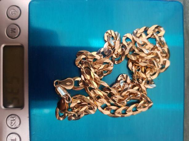 Złoty łańcuszek Pancerka 14k 55cm 53,5g próba 585