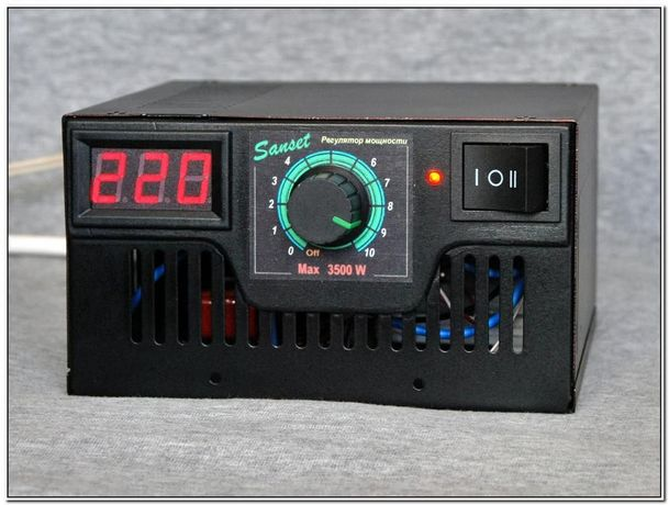 Регулятор мощности для ректификации, 3,5 kW, два режима с вольтметром