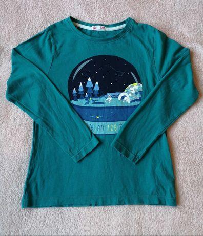 Bluzeczka 128cm, motyw zimowy. Stan b.dobry