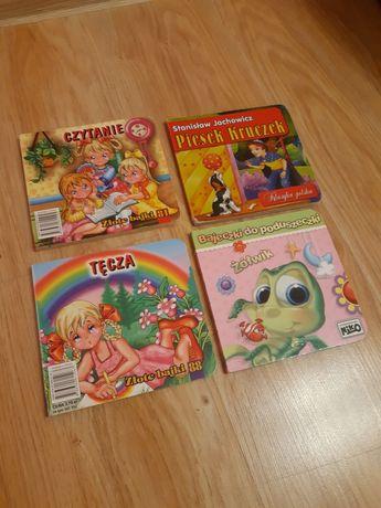 Książki bajki dla małych dzieci grube kartki  komplet Wilga Niko Tęcza