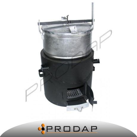 Parnik parownik ocynkowany 160 litrów z szamotem