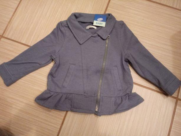 Sweter/ bluza/ bluzka na zamek z falbanką, r. 74. NOWA