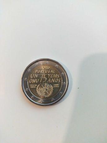 Moeda de 2 euros dos 75 anos da ONU