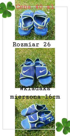 Sandalki Nike spider man roz 27 i 26 dł wkładki 16 cm