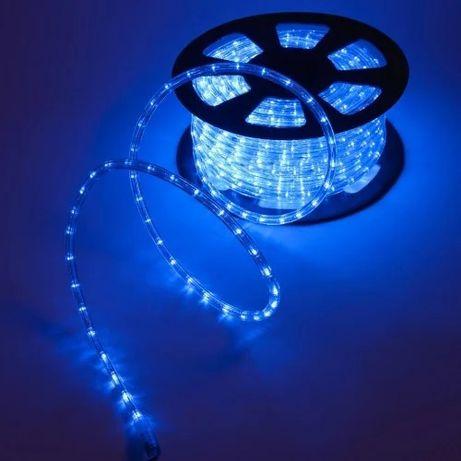 "Уличная гирлянда Дюралайт ""Rope Light"" 50 метров Синий, 900 LED"