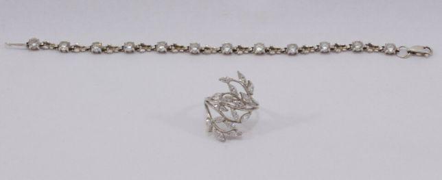 Серебряный браслет + кольцо (набор)