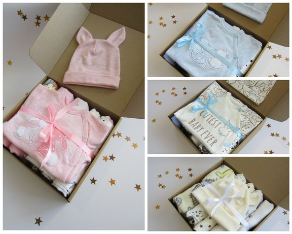 Комплект, набор в роддом, пеленки, одежда для новорождённого