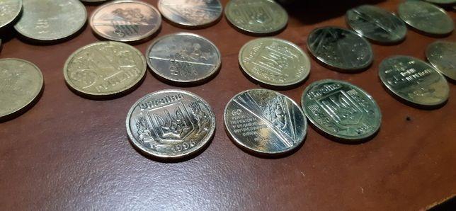 Юбилейные монеты Украины 1 Гривна 60 65 70 Лет Победы Освобождения