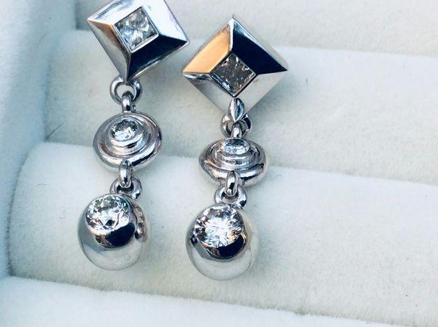 Серьги с бриллиантами 1.27 карат