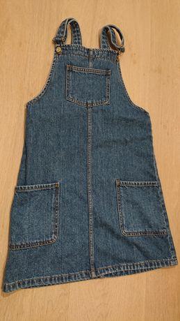 Nowa Sukienka jeans jeansowa ogrodniczka, mango, r. 116 / 122