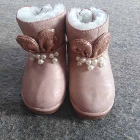 Сапожки зимней розовый