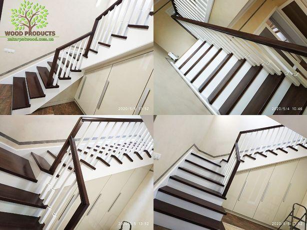 Сходи та комплектуючі, монтаж сходів, балясини та стовпи від виробника
