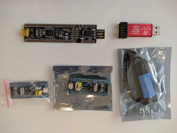CY8CKIT-059 płyta ewaluacyjna + 2 x STM32F103C8T6 + 2 x programator