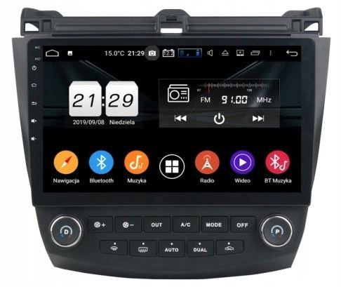 Radio 2 din android 10 cali 2GB RAM, GPS, bluetooth, Accord 7, Raty