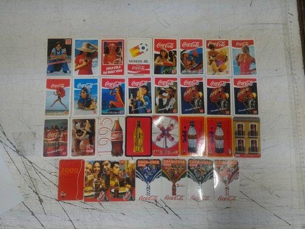 Colecção 31 Calendários COCA COLA Portugal entre 1979 e 2008 c/ difer.