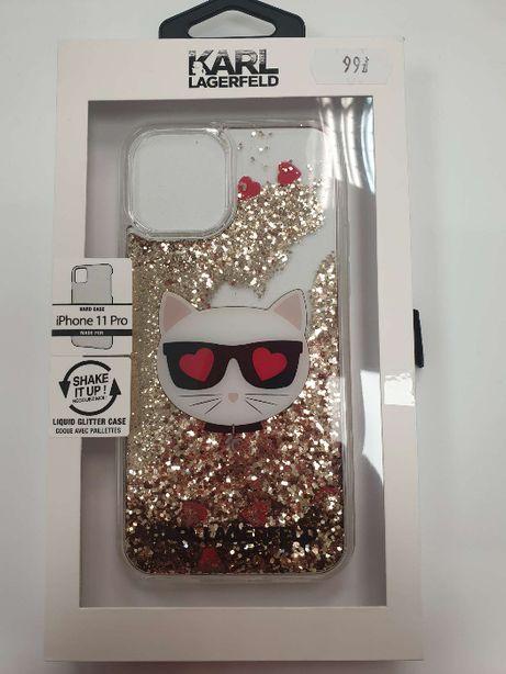 Etui KARL LAGERFELD iPhone 11 Pro hardcase Glitter Choupette