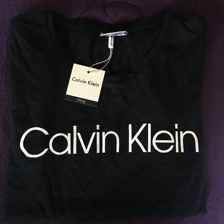 Calvin Klein czarna koszulka CK bluzka t-shirt bawełna damska