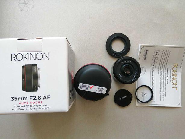 Rokinon 35mm F2.8 Full Frame FE Auto Focus for Sony E